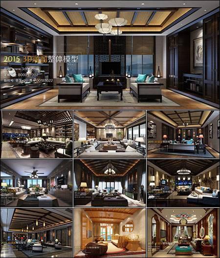 دانلود Sounth Asia Style Livingroom 3D66 Interior 2015
